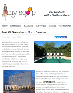 MyScoop.com Article about Proximity Hotel and the Best of Greensboro, NC